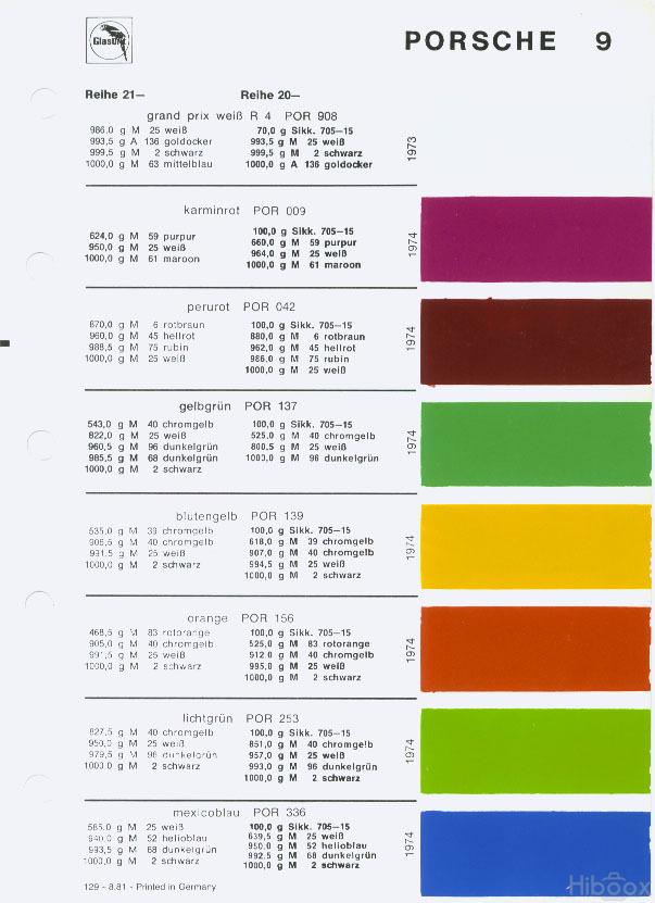 Yellowbird Color Code Pelican Parts Technical Bbs