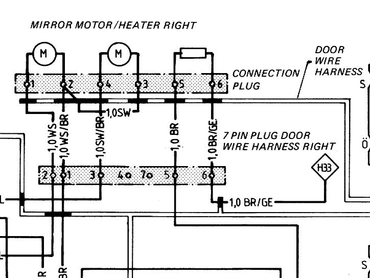 electrical gurus please flag mirror issues pelican parts forums rh forums pelicanparts com Porsche 911 Turbo porsche 911 electric mirror wiring