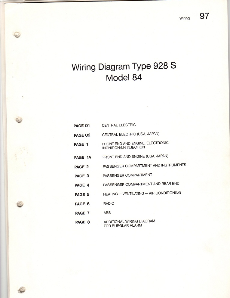1984 928S and 1993 928GTS wiring diagram  - Pelican