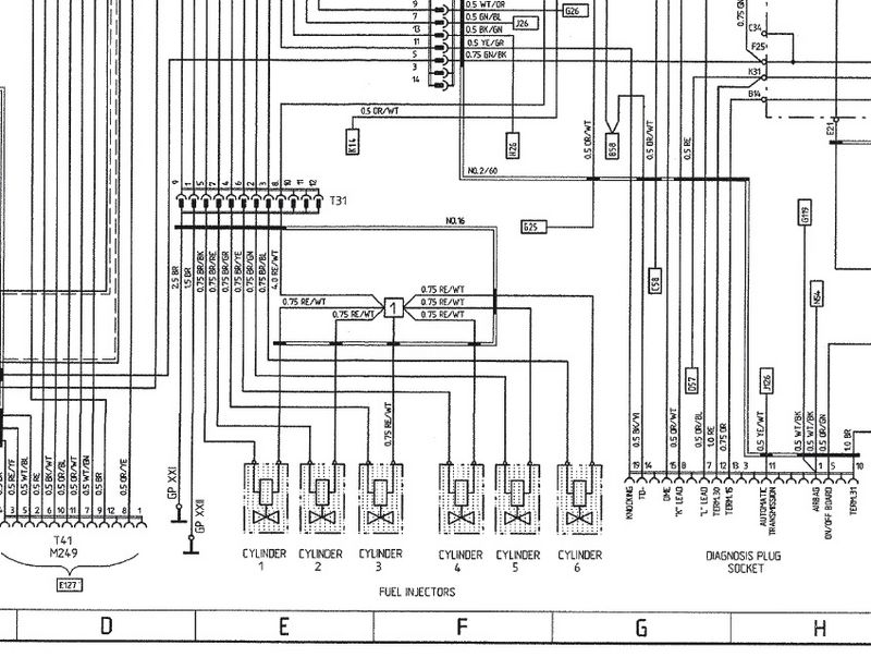 Porsche 996 Fuel Injector Wiring Diagram - wiring diagrams image ...