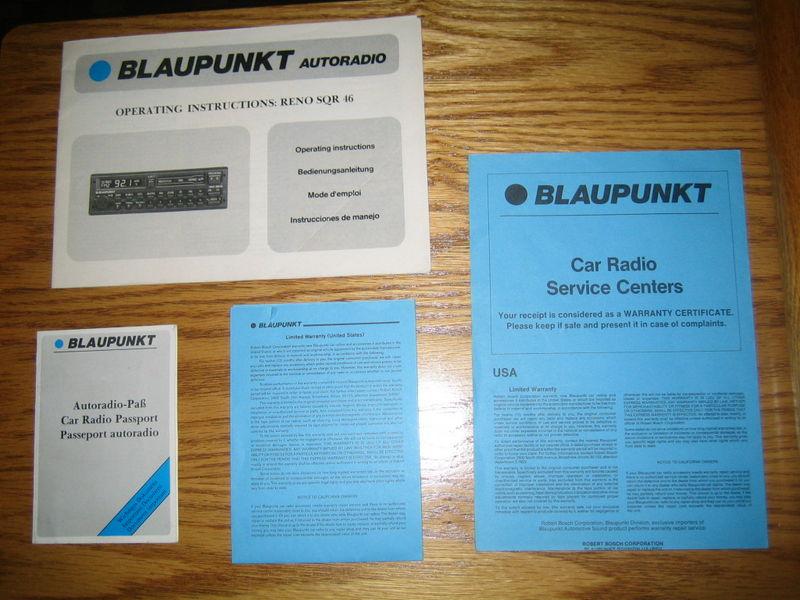 wtb operating instructions manual for blaupunkt reno. Black Bedroom Furniture Sets. Home Design Ideas