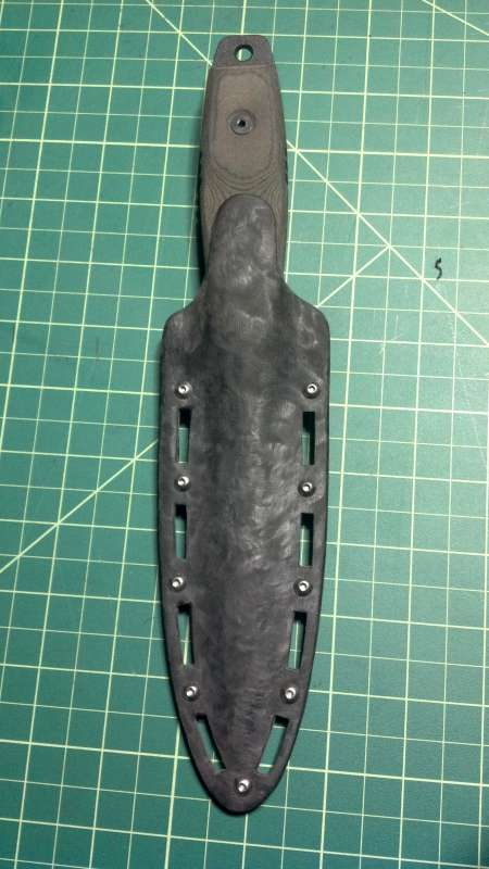 Made a Kydex sheath for my Ranger's Edge. - Other Weapons