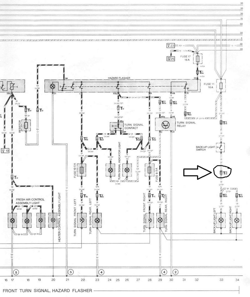 Back Up Light Circuit Question - 82 911sc