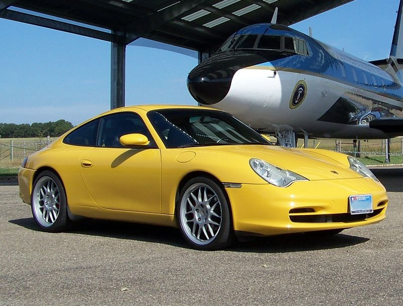 Porsche 996 Carrera Coupe Speed Yellow Pelican Parts