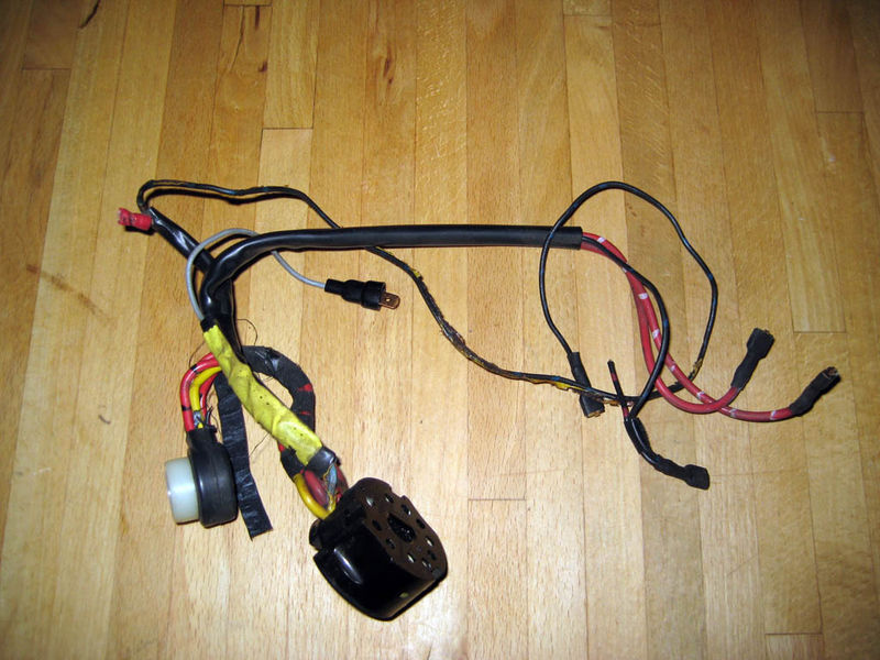 on yellow wire on wiring harness