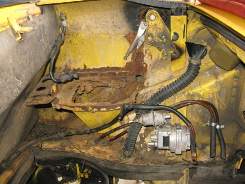 914 Hell Hole Battery Tray Trunk Pivots Before And