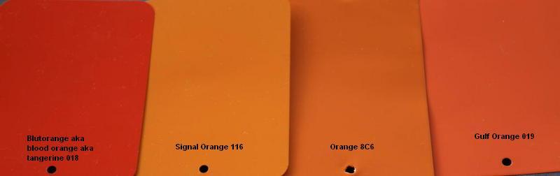 What Orange Is This Targa Tangerine Or Signal Orange