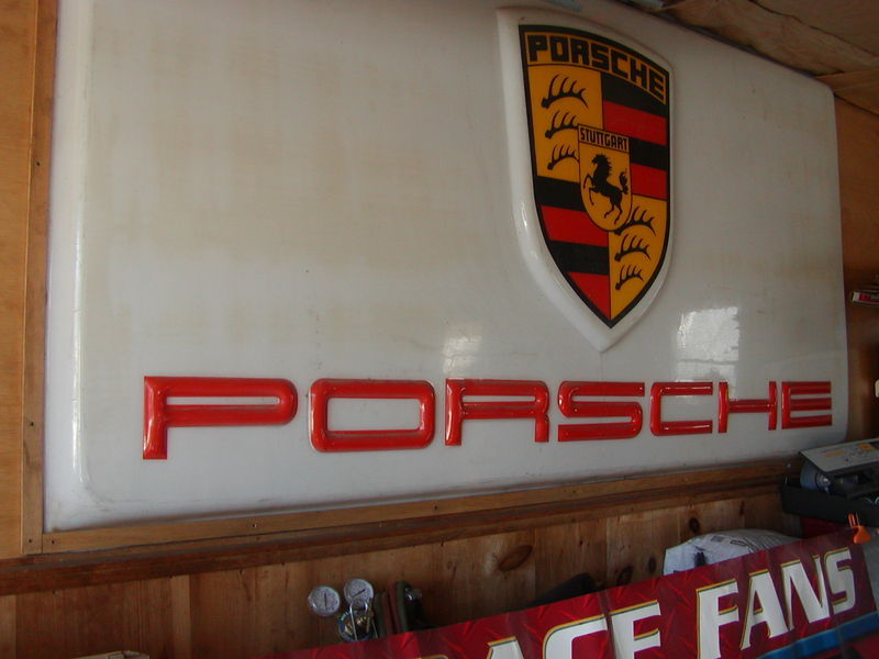 Fs Vintage Porsche Dealership Sign Pelican Parts Technical BBS - Vintage porsche dealer