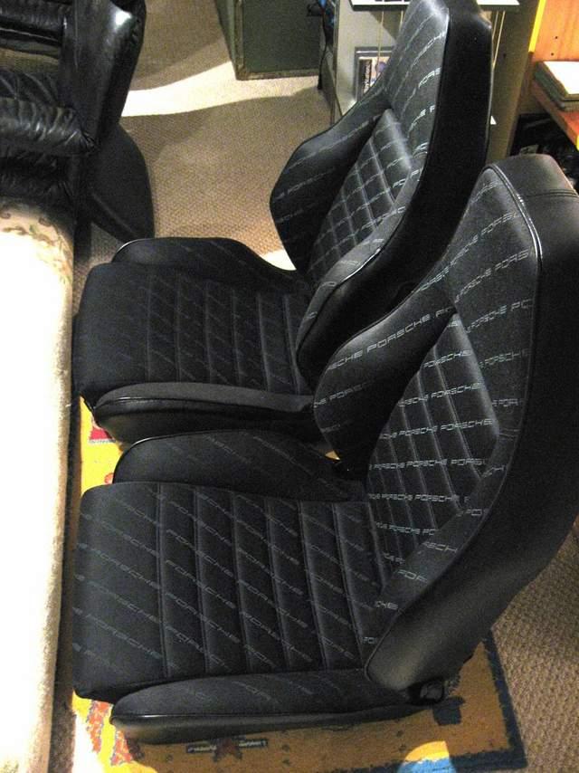 Porsche 911 944 Sports Seats Sc Style Script Cloth Pelican Parts Forums