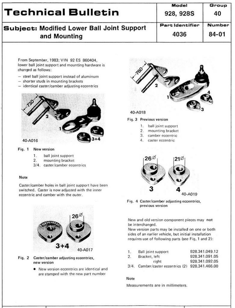 Questions about aluminum ball joints page 2 pelican for Technical bulletin template word