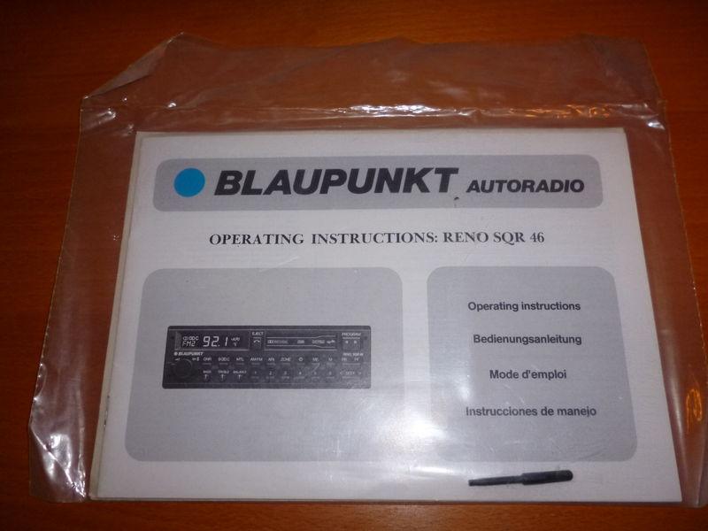 Wtb Operating Instructions Manual For Blaupunkt Quot Reno