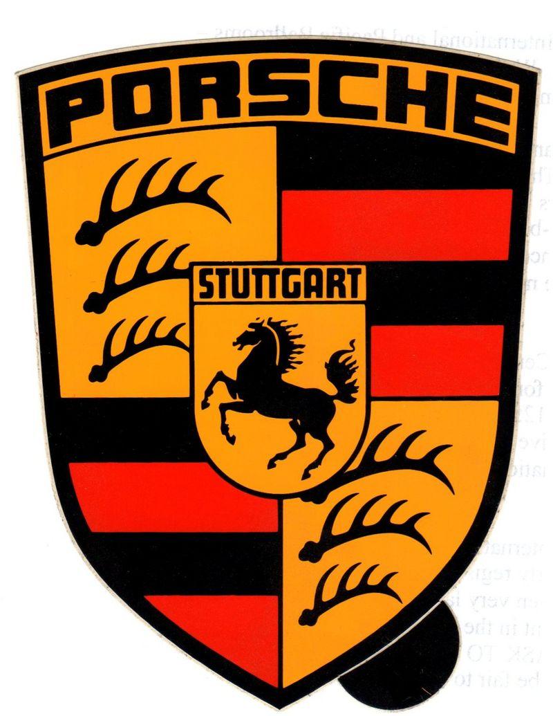 Porsche Crest Decals Small Medium And Large Pelican