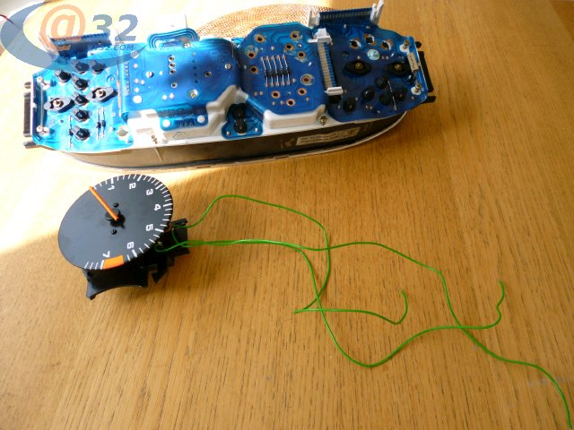 components on the tach pcb until you find one that turns the tach operation on and off remake the joints on that component and the problem is solved