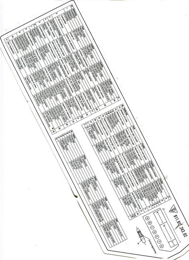 fuse box label for 1988 carrera