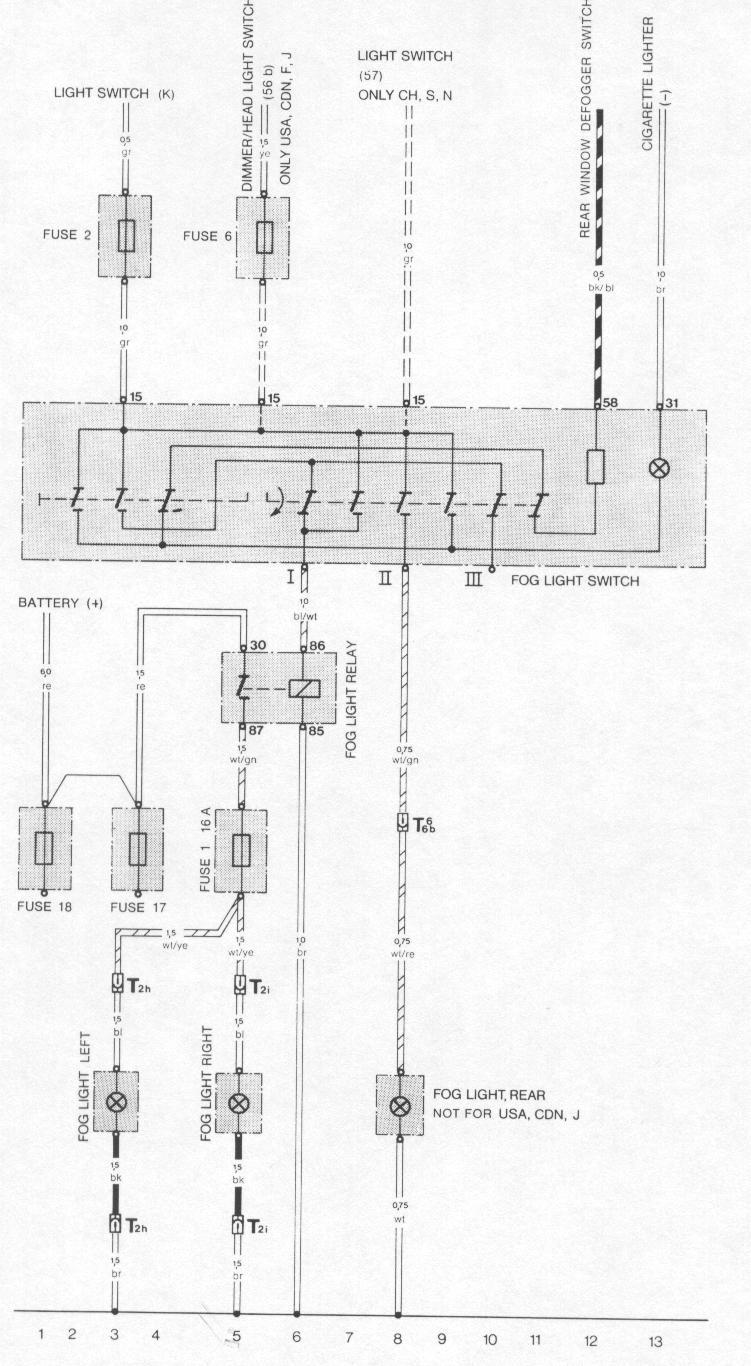 Bmw Fog Light Wiring Diagram Block E90 Schematic E30 Rear Somurich Com 4 Wire