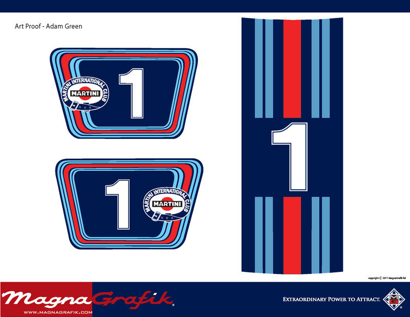 Fs Martini Racing Magnetic Door Plates And Vinyl Stripes
