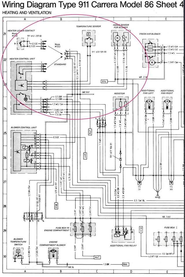 1980 911 temp control  heating system control box wiring