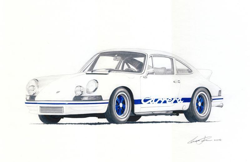 Porsche 911 RS 2,7 Drawing