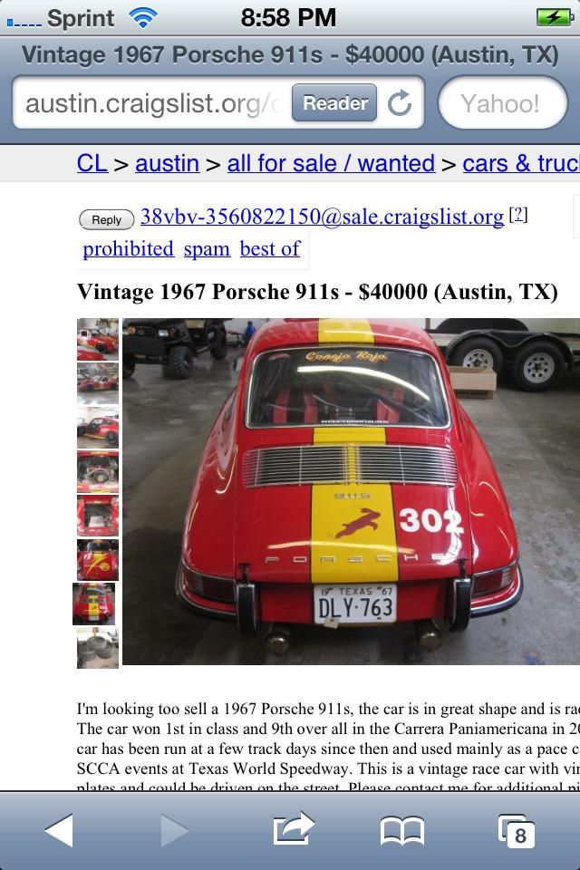 Vintage Race Cars For Sale Craigslist