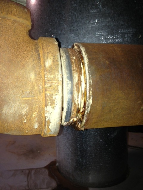 Steam Leak From Pipe : Need advice home boiler steam pipe leak pelican parts