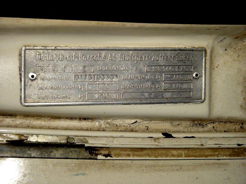 1973 manufacturing plate information and serial number. Black Bedroom Furniture Sets. Home Design Ideas