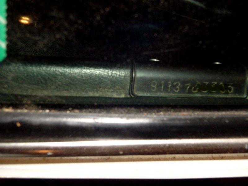 911 930 vin number is on the windshield pelican parts forums. Black Bedroom Furniture Sets. Home Design Ideas