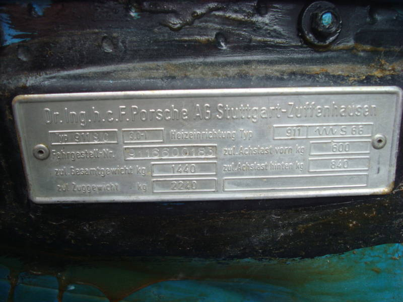 What Transmission Do I Have >> Does anyone have a '76 or '77 911/911S with a VIN plate? - Pelican Parts Forums