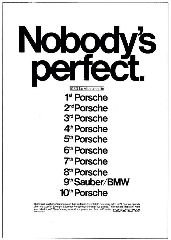 some cool classic porsche ads