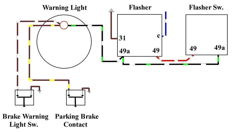 Blinking Brake Warning Light On Dash