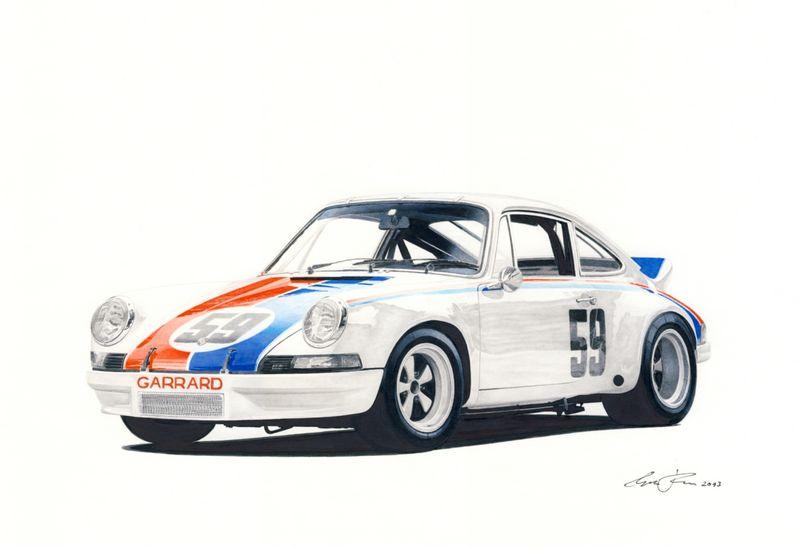 Brumos Porsche 911 Rsr 73 Drawing Pelican Parts