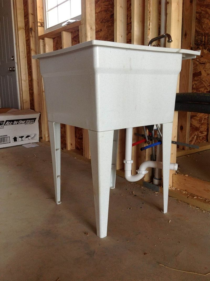 Utility Sink In Garage : Plumbing Code Question - Garage Utility Sink Cut-Off Valves - Pelican ...