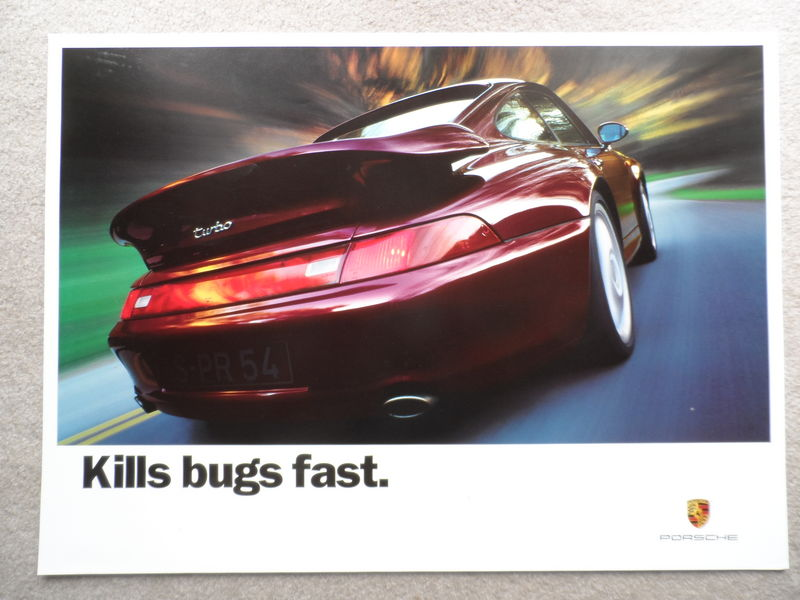 911 993 Turbo Kills Bugs Fast Poster Pelican Parts Forums
