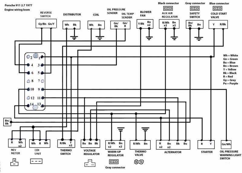 U0026 39 83 Sc Wiring Harness Connection Legend