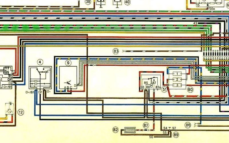 73 5 voltage regulator wiring pelican parts technical bbs the diagrams don t show the noise suppression capacitors though the only difference is the 2 wires shown in the cis additional wiring diagram which as you