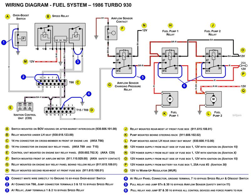 porsche 911 3 2 wiring diagram porsche 911 power window wiring diagram 930 fuel pumps not running pelican parts forums