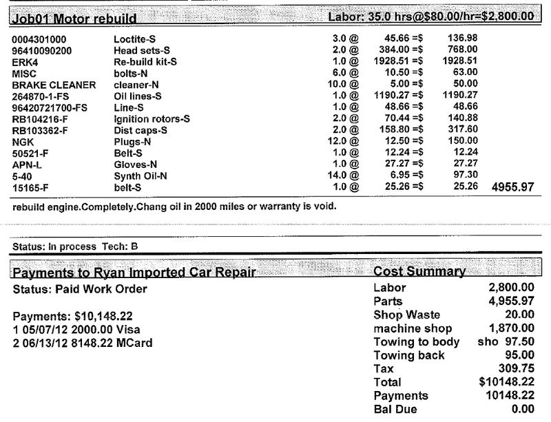 Engine Rebuild Cost >> 1990 964 Engine Rebuild Pelican Parts Forums