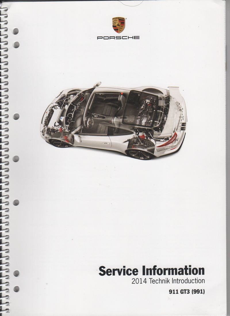 FS 2014 911/991 GT3 service information manual/book
