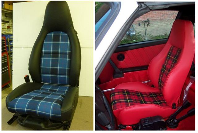 tartan plaid seats and door panels pelican parts forums. Black Bedroom Furniture Sets. Home Design Ideas