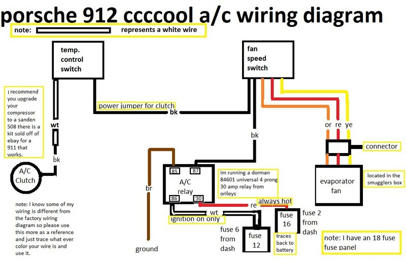 1976 912e Need Air Conditioning A  C Wiring Help