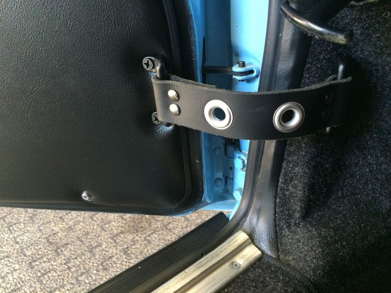 Custom Leather Rs Panel Door Pulls And Check Straps