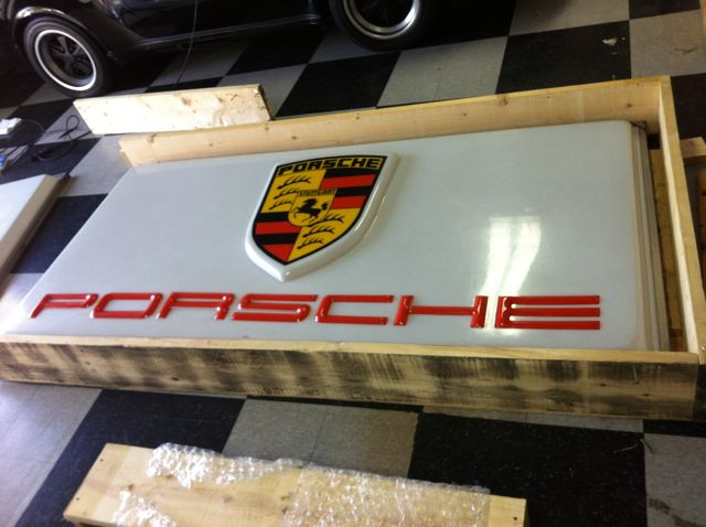 Wanted Vintage Porsche Dealer Sign Pelican Parts Technical BBS - Vintage porsche dealer
