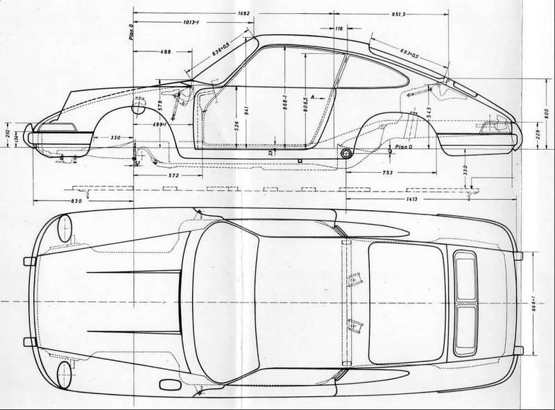 1969 porche 911 blueprints