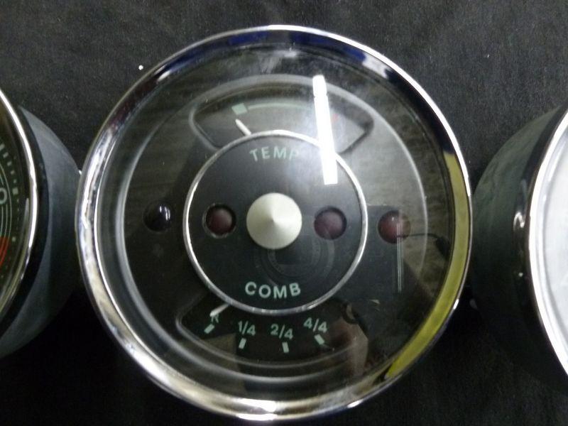 Set Of 3 Euro Gauges 356 Speedometer Tachometer And