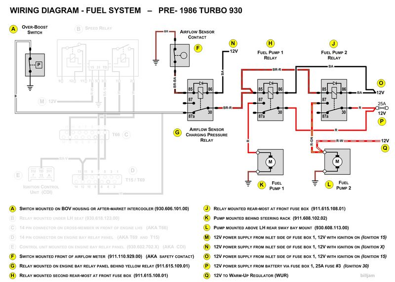1979 930  Euro  Fuel Pump Relay Wiring Issue