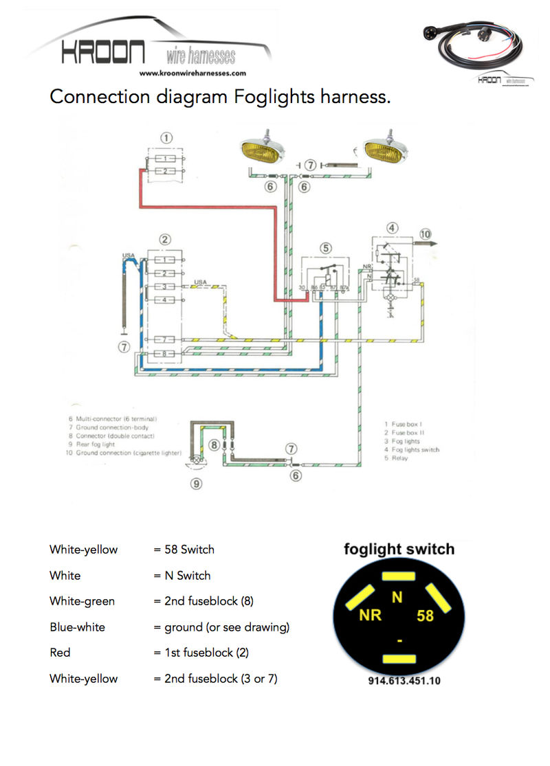 1972 t fog light switch wiring diagram - Pelican Parts Technical BBS