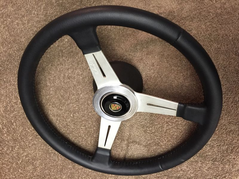 Vintage Nardi Leather Wheels W Solid Luisi Hub And