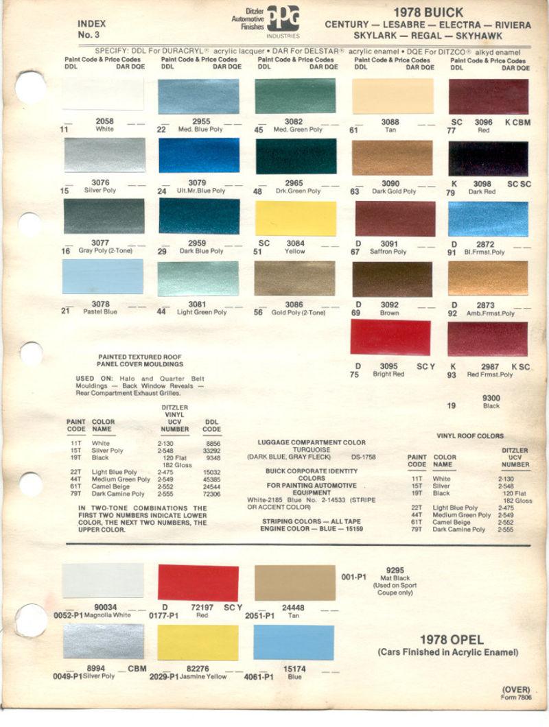1978 Porsche 930 Rare Color Pelican Parts Forums 57 Chevy Factory Colors