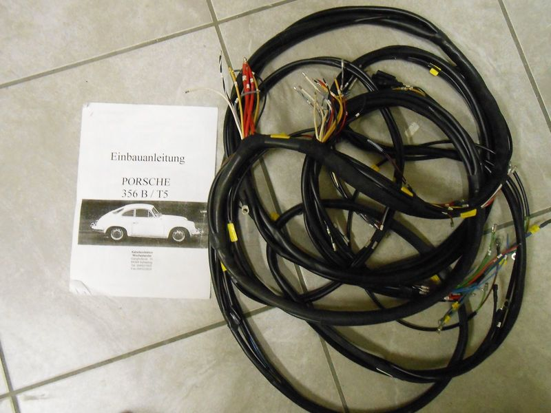 356 b t5 brand new german made wiring harness with fusebox pelican porsche 356 engine compartment please call val @ 386 4283137