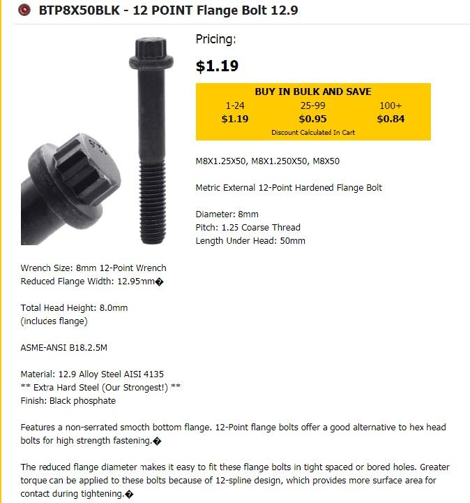 Better 8mm CV bolt? - Pelican Parts Forums