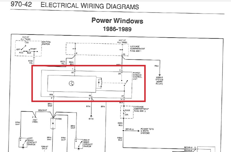 86 d150 power window wiring diagram '86 power window relay? - pelican parts forums